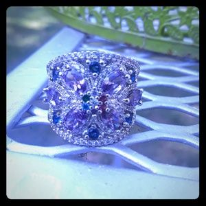 Jewelry - Amethyst and sapphire ring.